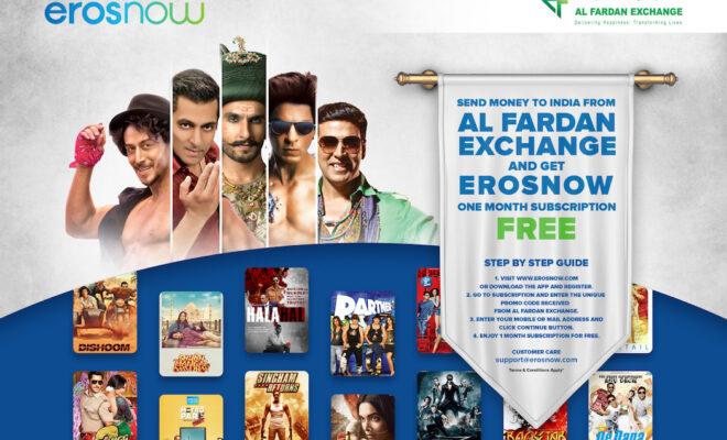 Al Fardan Exchange Partners Up with Eros