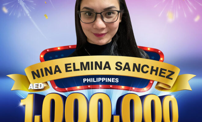 Nina Elmina Sanchez becomes 7th Millionaire of Al Ansari Exchange's live draw in Dubai.