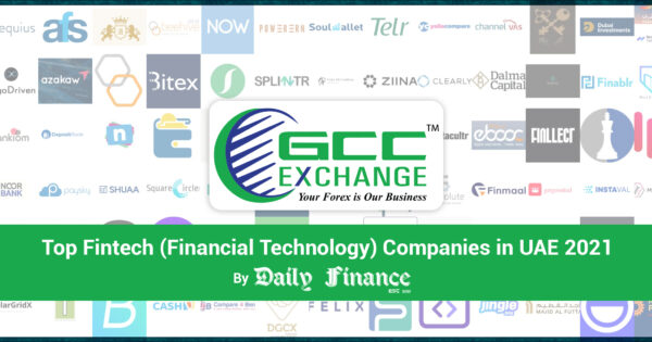 GCC Exchange Listed Among Top Fintech Companies in UAE 2021